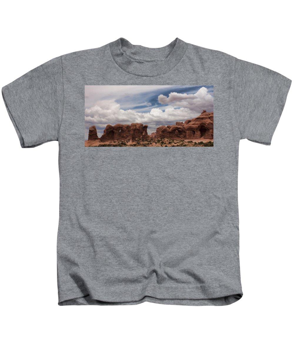 Desert Kids T-Shirt featuring the photograph Doorways by Karen Ulvestad