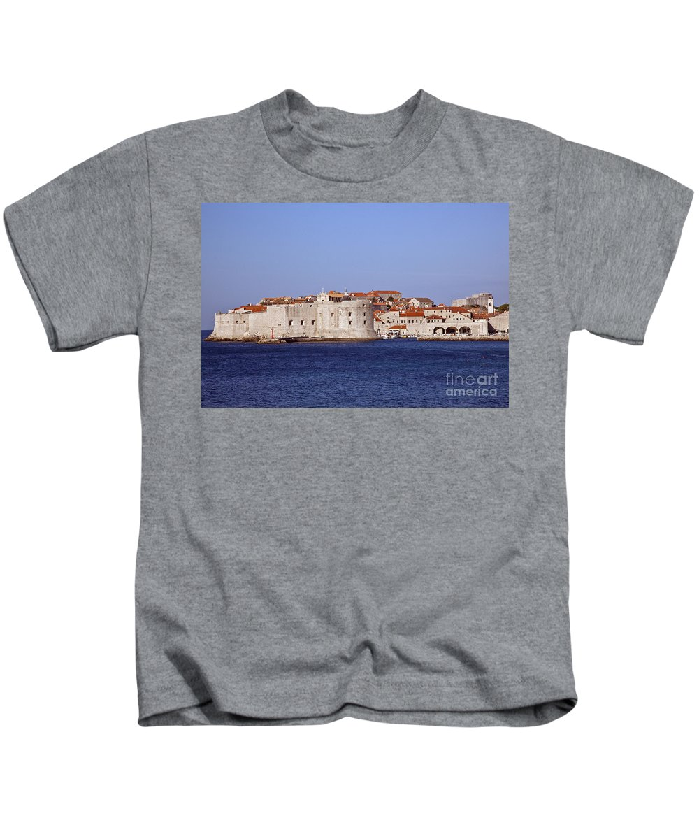 Dubrovnik Kids T-Shirt featuring the photograph Dubrovnik View 5 by Madeline Ellis