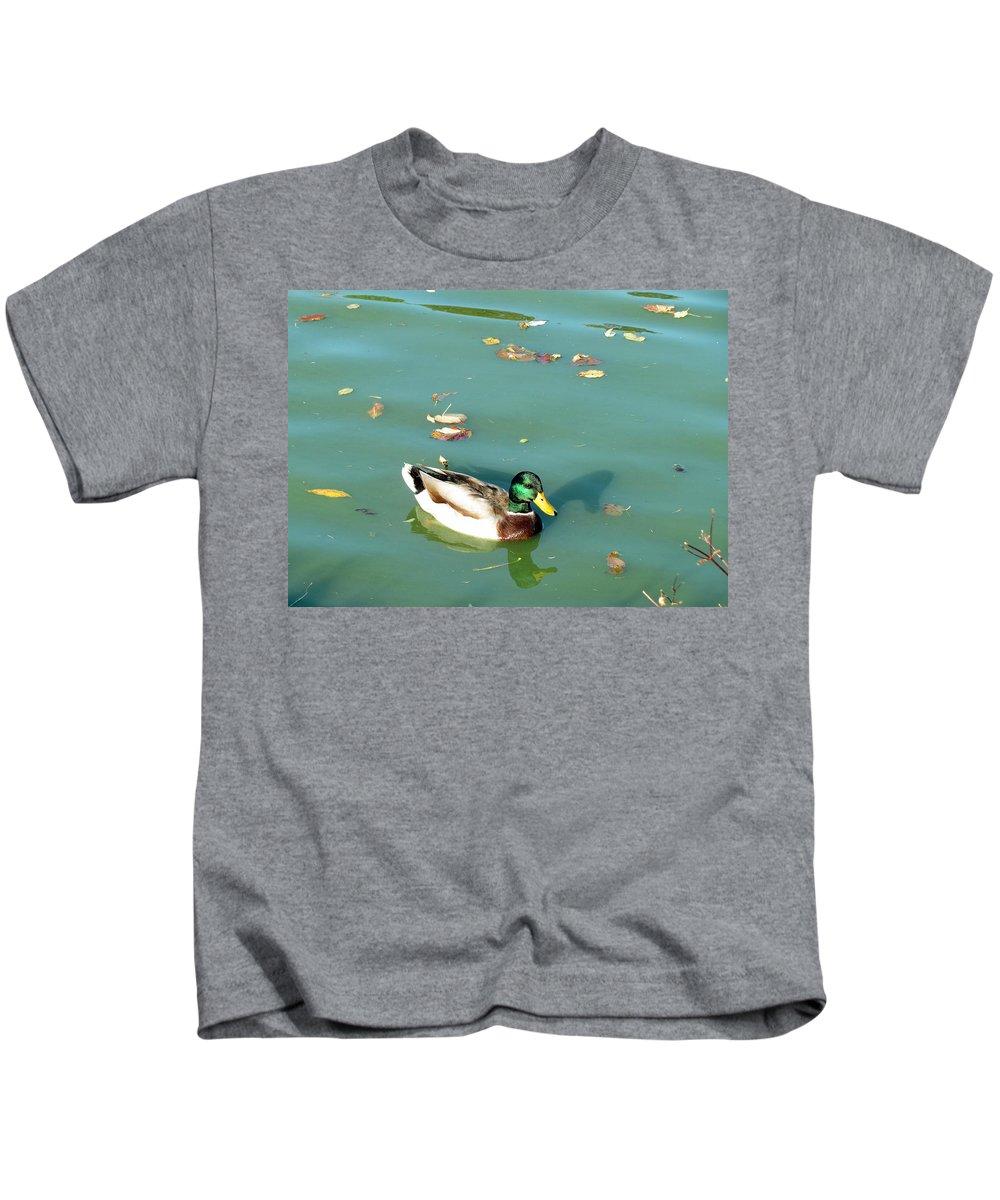 Duck Kids T-Shirt featuring the photograph Duck 1 by Anita Burgermeister