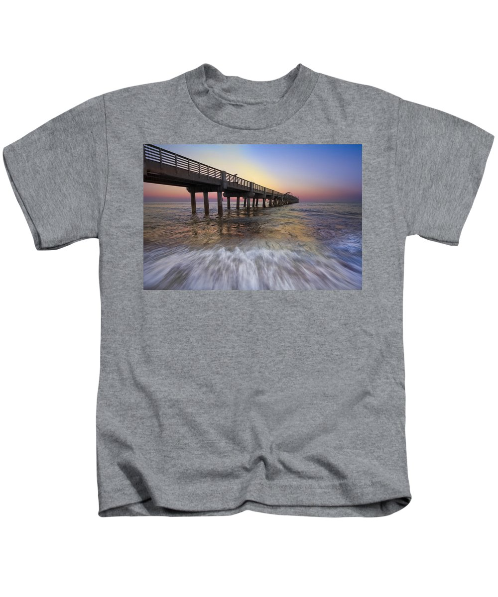 Clouds Kids T-Shirt featuring the photograph Eastern Glow by Debra and Dave Vanderlaan