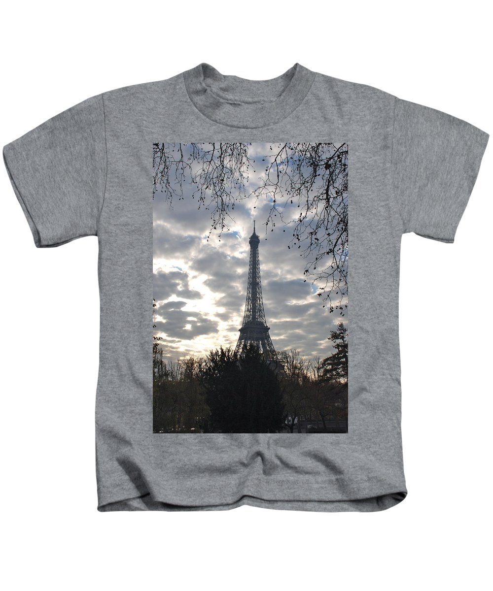 Eiffel Tower Kids T-Shirt featuring the photograph Eiffel In The Morning by Eric Tressler