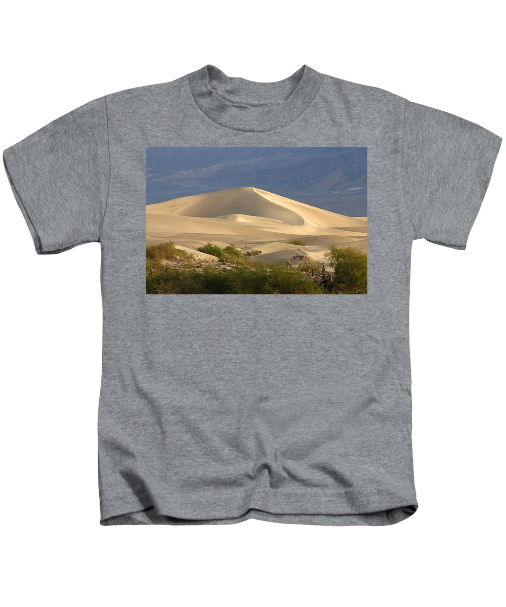 Evening Dune Kids T-Shirt featuring the photograph Evening Dune by Wes and Dotty Weber