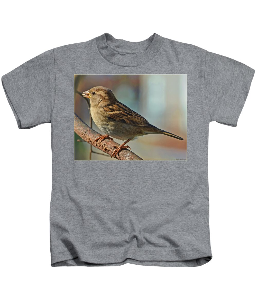 Nature Kids T-Shirt featuring the photograph Evening Meal by Debbie Portwood