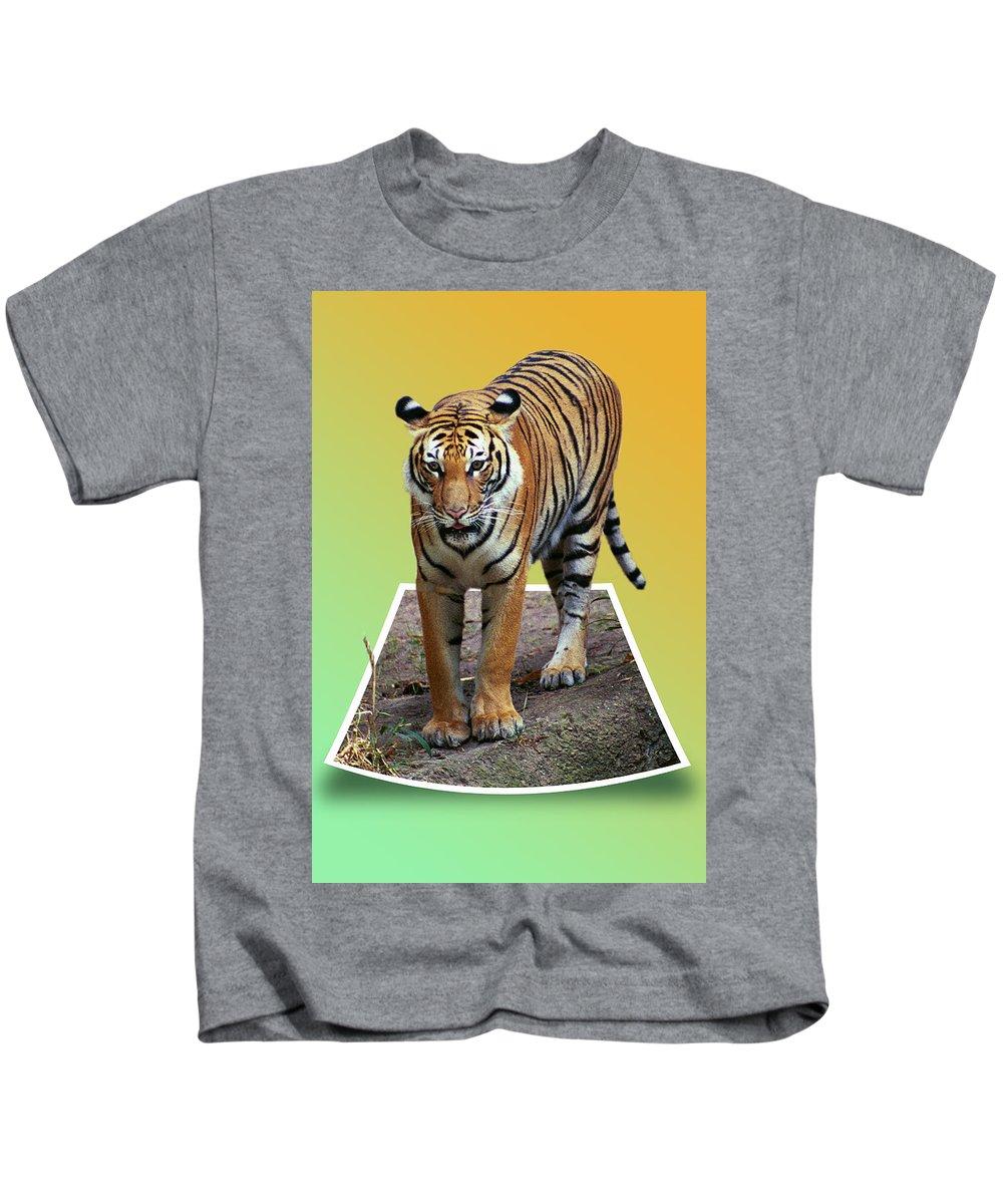 Kids T-Shirt featuring the photograph Eye Balling You by Michael Frank Jr