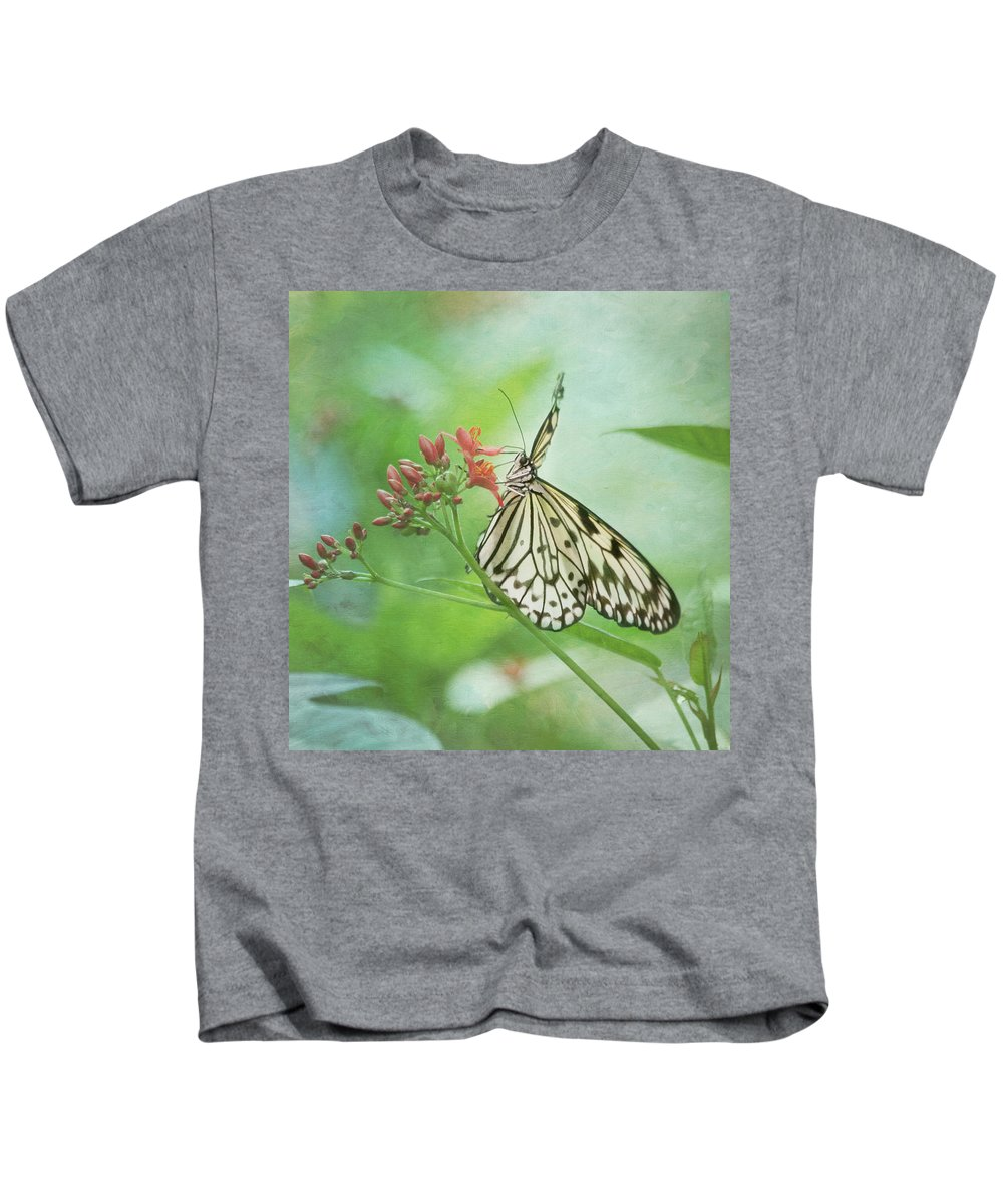 Butterfly Kids T-Shirt featuring the photograph Fairy Dance by Kim Hojnacki