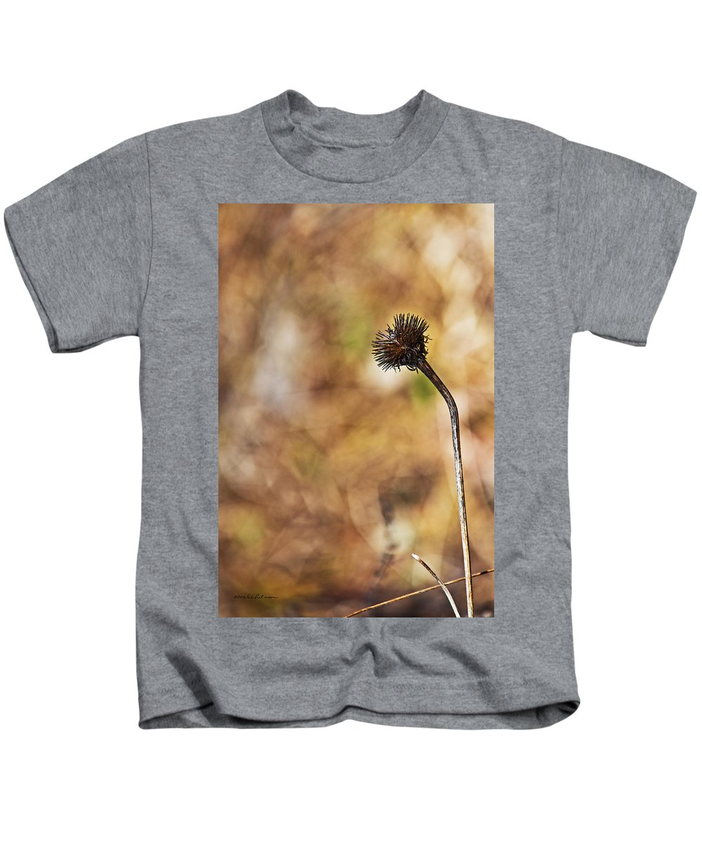 Heron Heaven Kids T-Shirt featuring the photograph Fall Flower by Edward Peterson
