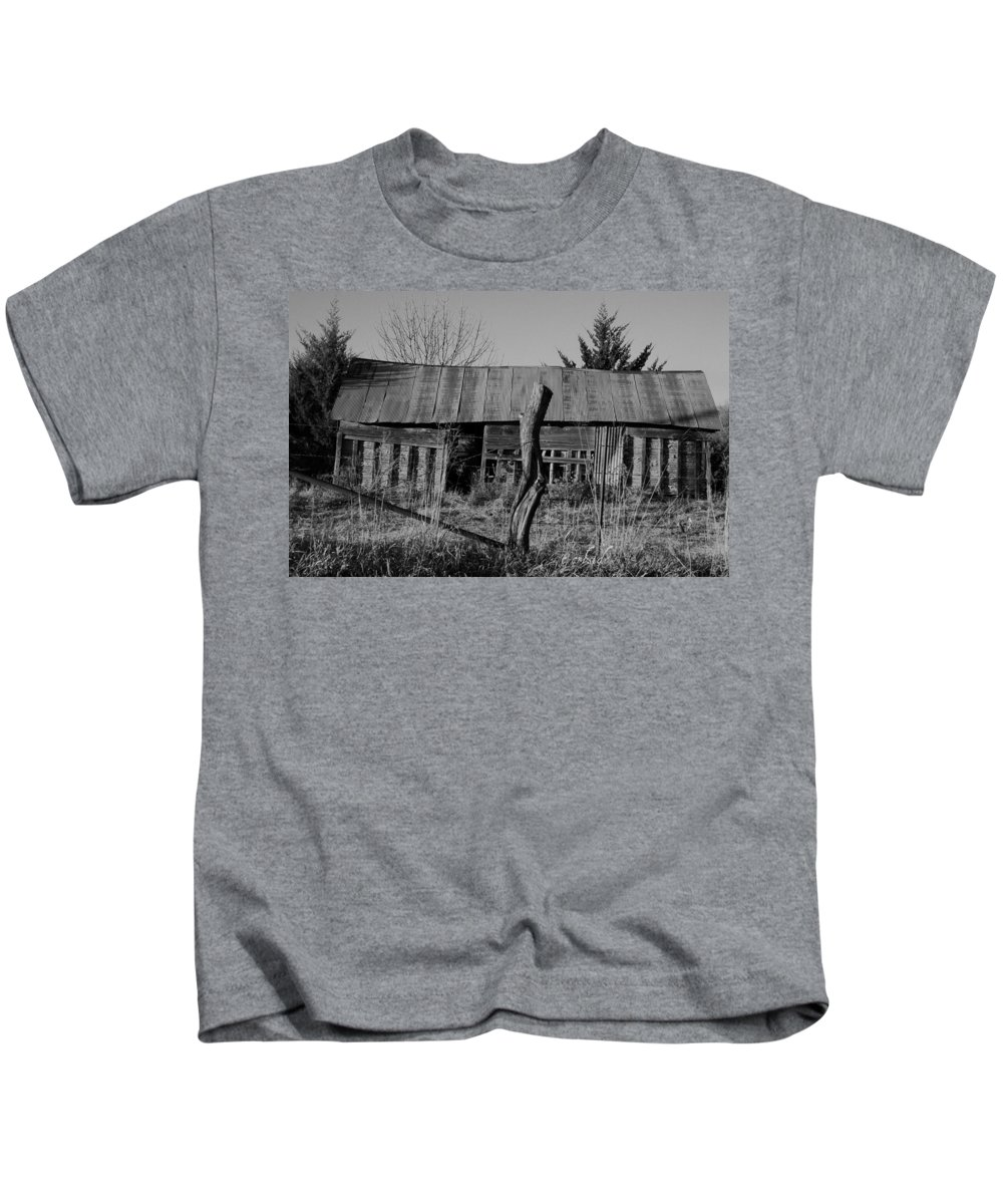 Farm Kids T-Shirt featuring the photograph Farmers Building by Chris Berry