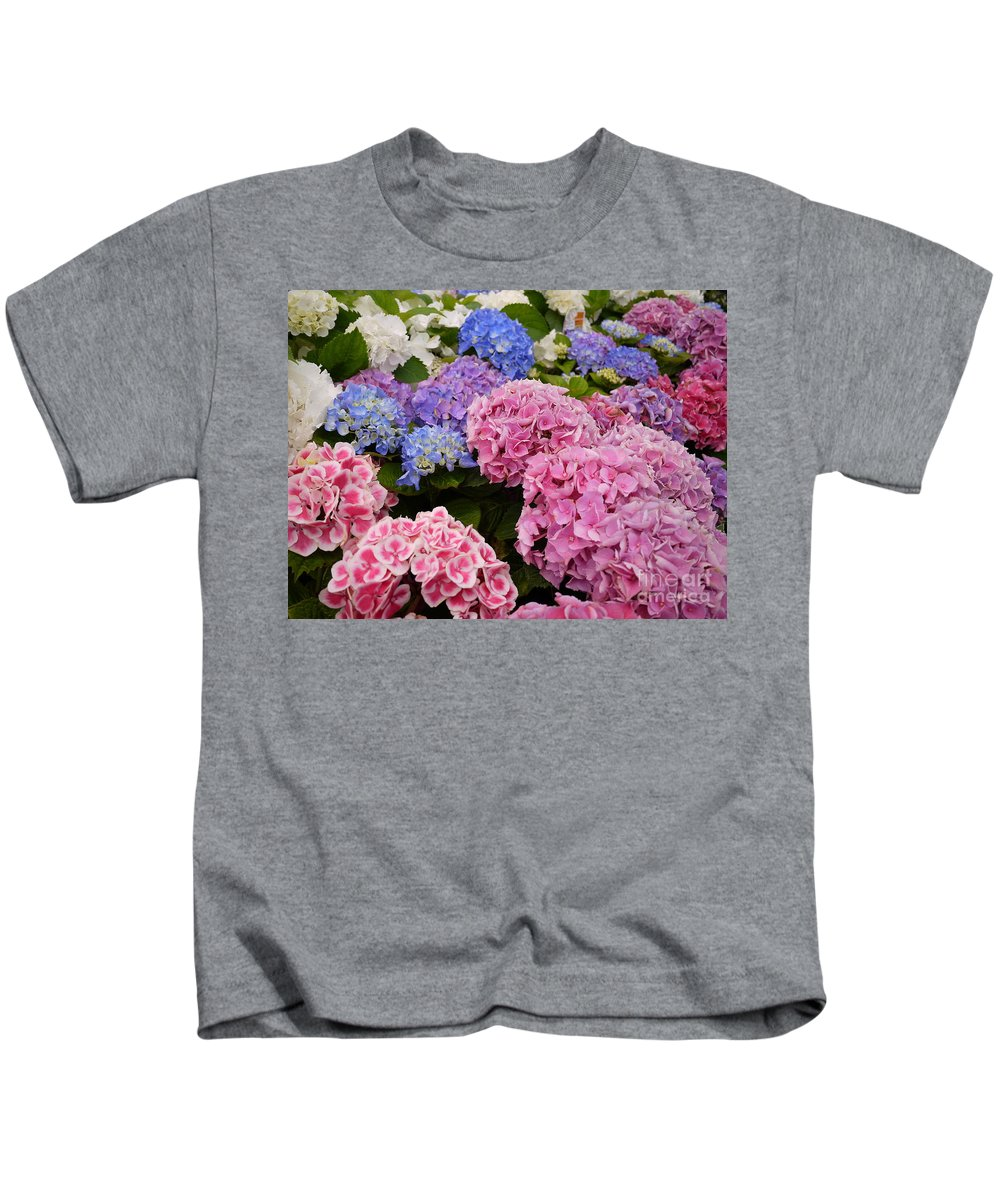 Flowers Kids T-Shirt featuring the photograph Field Of Happiness by Nancie DeMellia