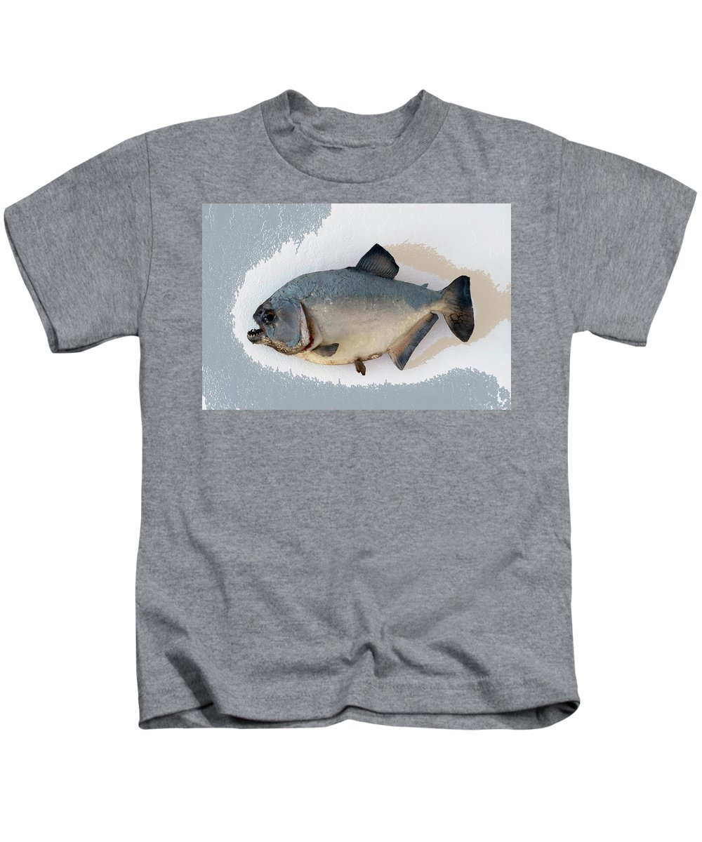 Animals Kids T-Shirt featuring the photograph Fish Mount Set 04 B by Thomas Woolworth
