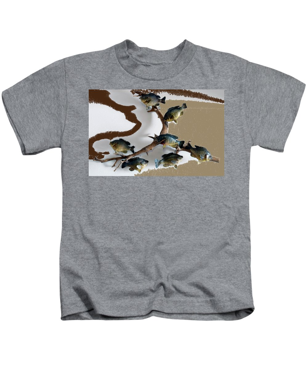 Animals Kids T-Shirt featuring the photograph Fish Mount Set 05 C by Thomas Woolworth