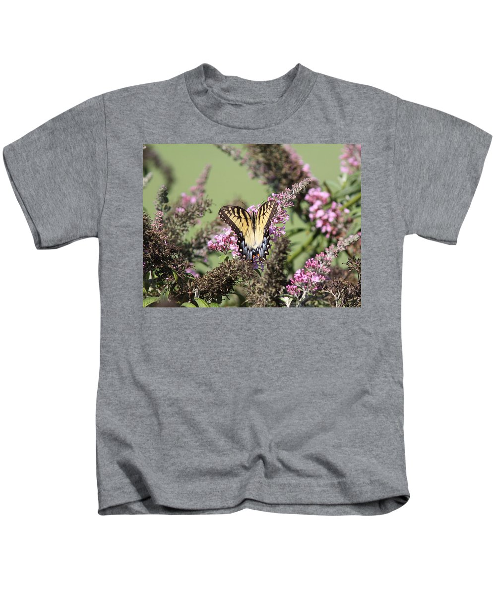 Butterfly Kids T-Shirt featuring the photograph Flitter - Butterfly - Swallowtail by Travis Truelove