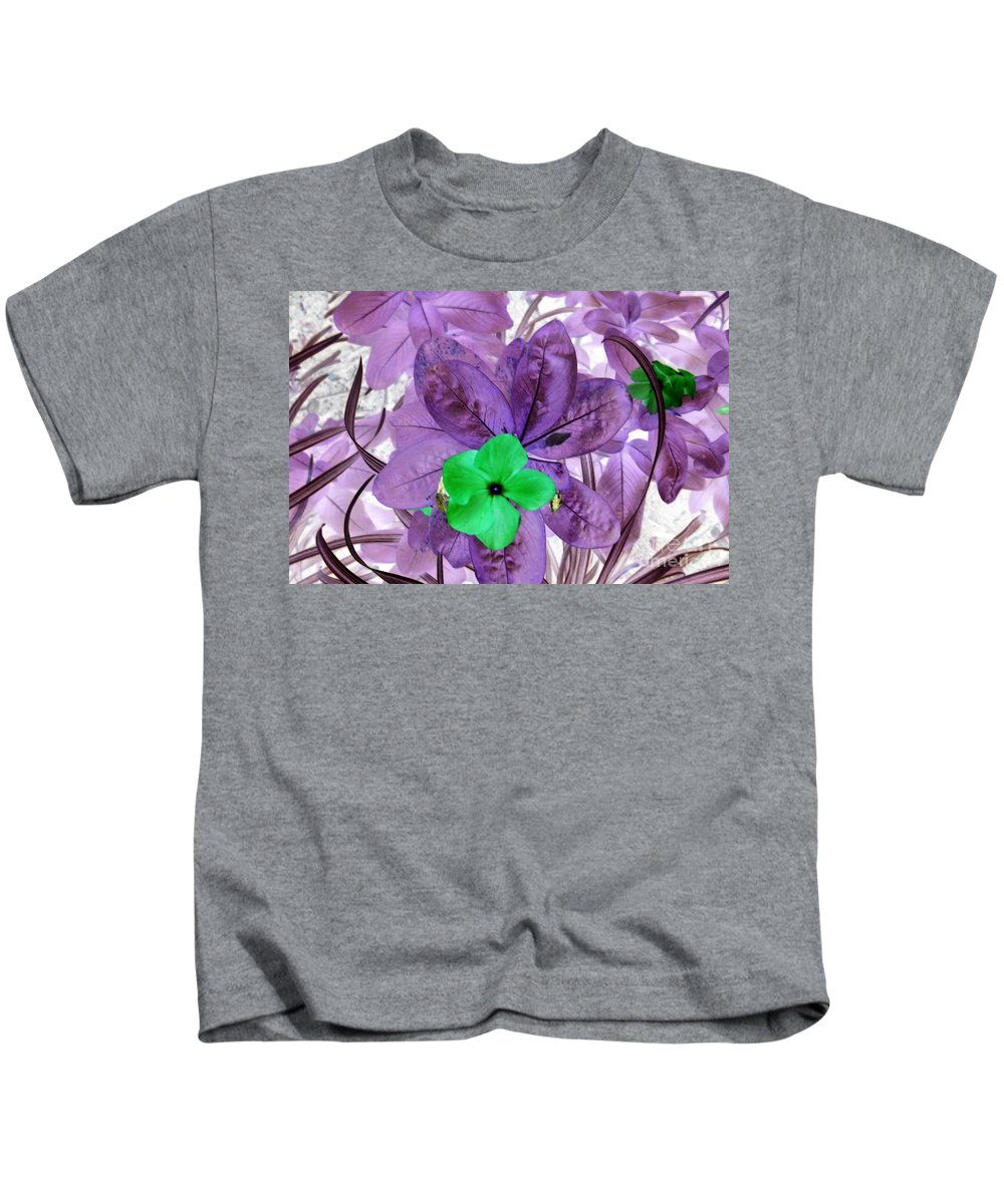 Original Abstract Print Kids T-Shirt featuring the painting Flower1 by Dawn Hough Sebaugh