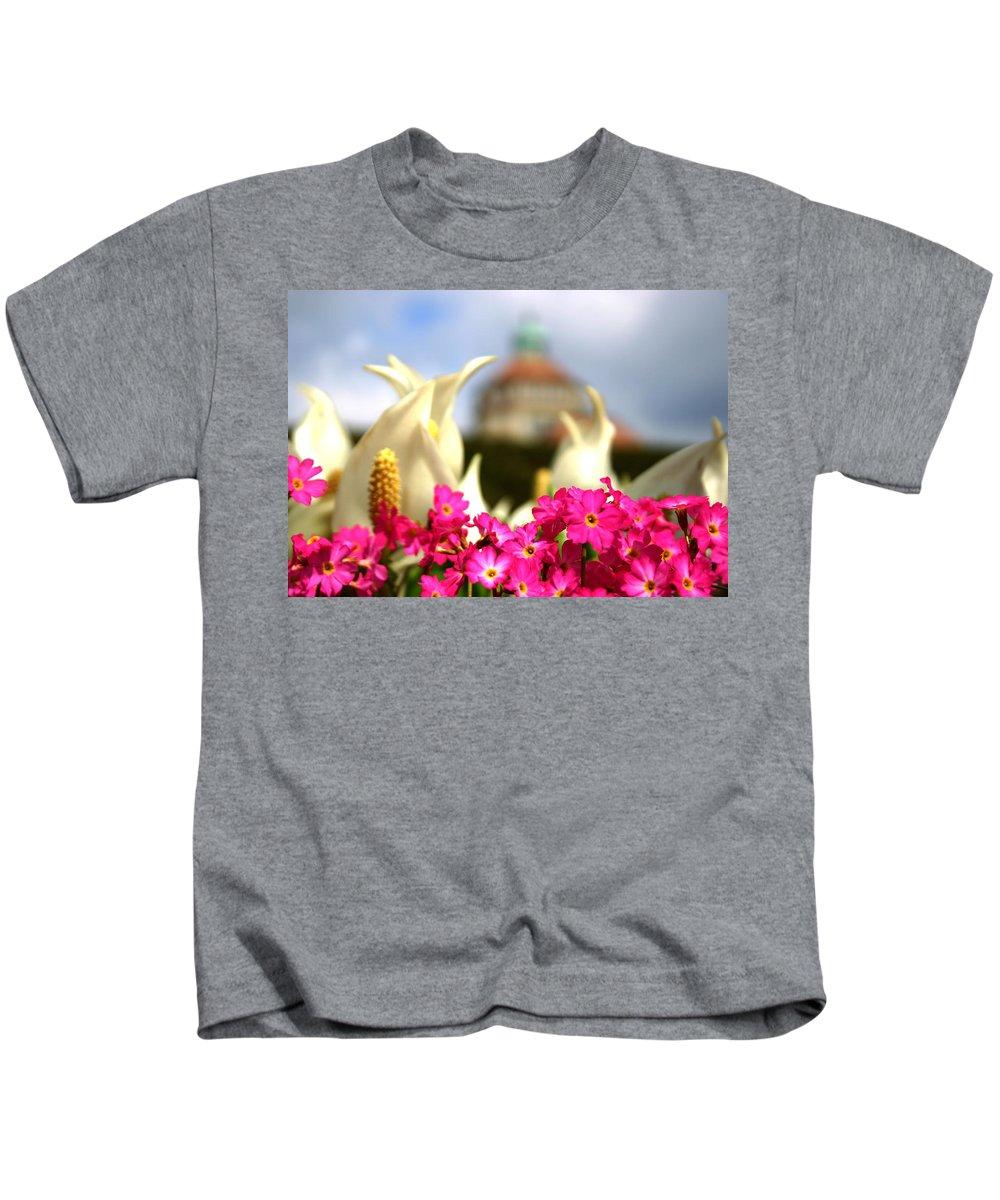 Botanical Garden Kids T-Shirt featuring the photograph Flowers - Botanical Garden Munich by M Bleichner