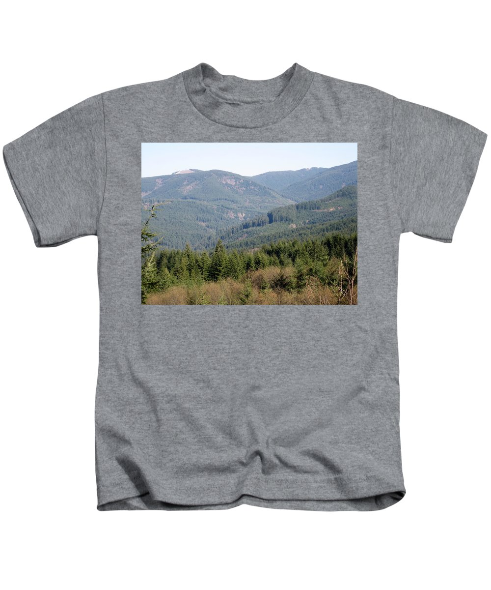 Foothills Kids T-Shirt featuring the photograph Foothills by Linda Hutchins