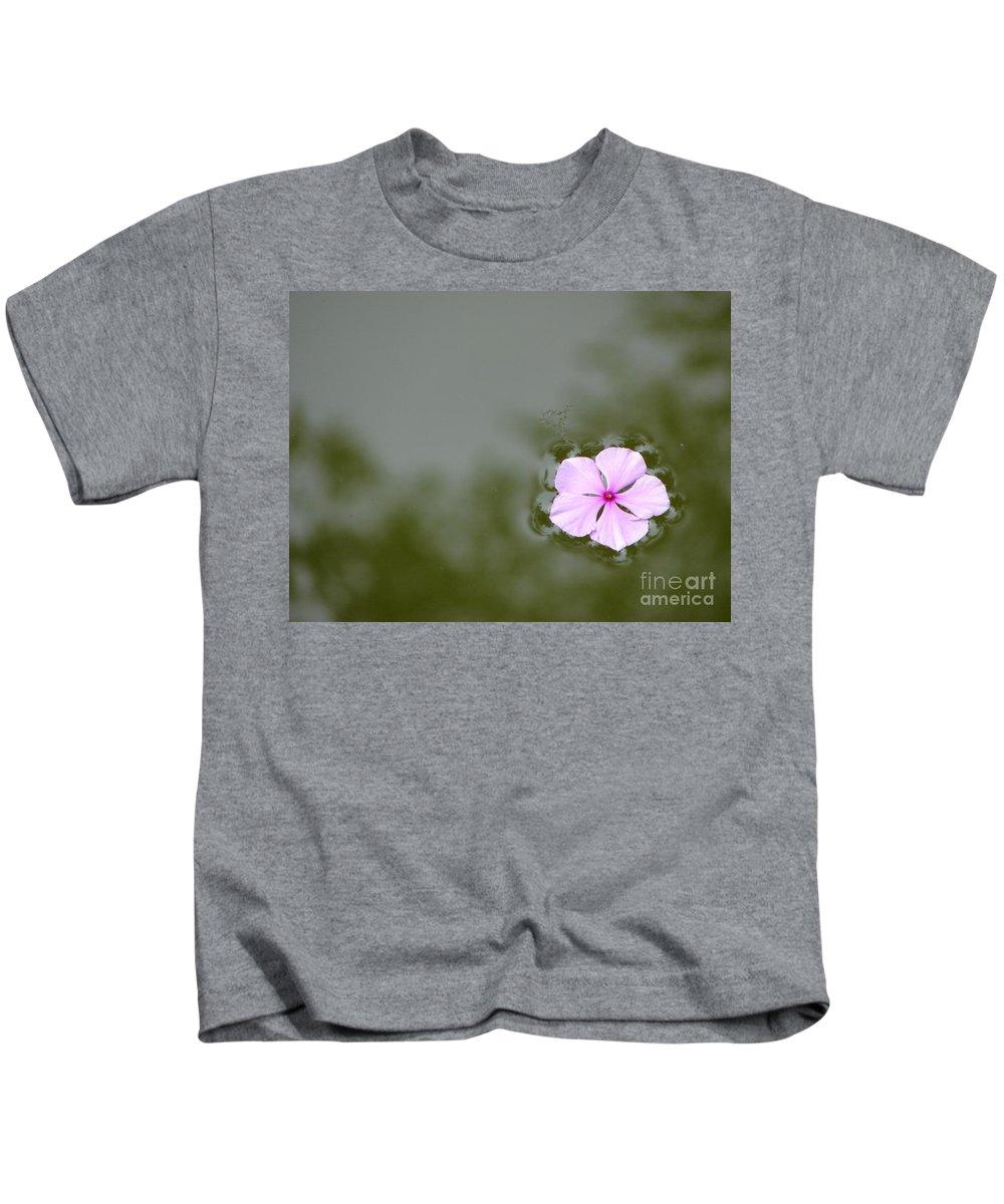 Petals Kids T-Shirt featuring the photograph Forgotten by Priscilla Richardson