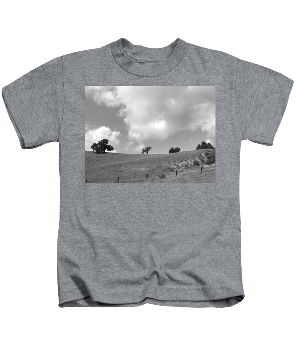 Landscape Kids T-Shirt featuring the photograph Four On The Hill by Kathleen Grace