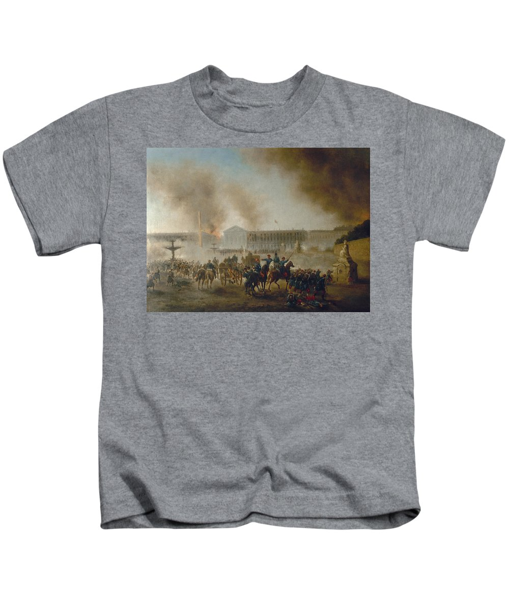 1870 Kids T-Shirt featuring the photograph Franco-prussian War, 1870 by Granger