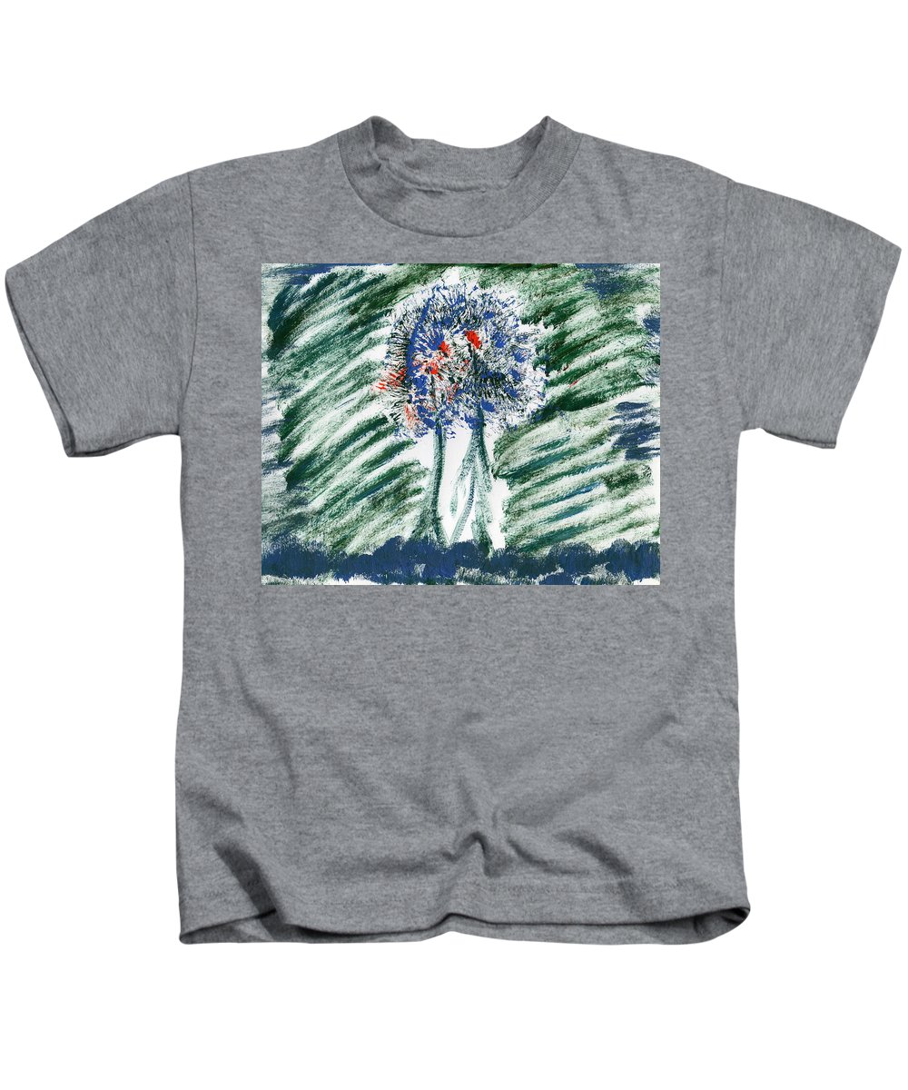 Gated Forest Kids T-Shirt featuring the painting Gated Forest by Taylor Webb