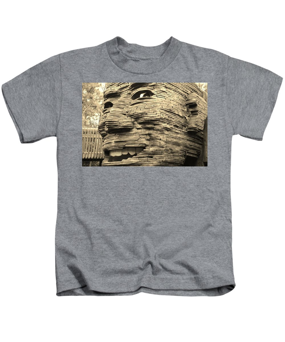 Architecture Kids T-Shirt featuring the photograph Gentle Giant In Sepia by Rob Hans