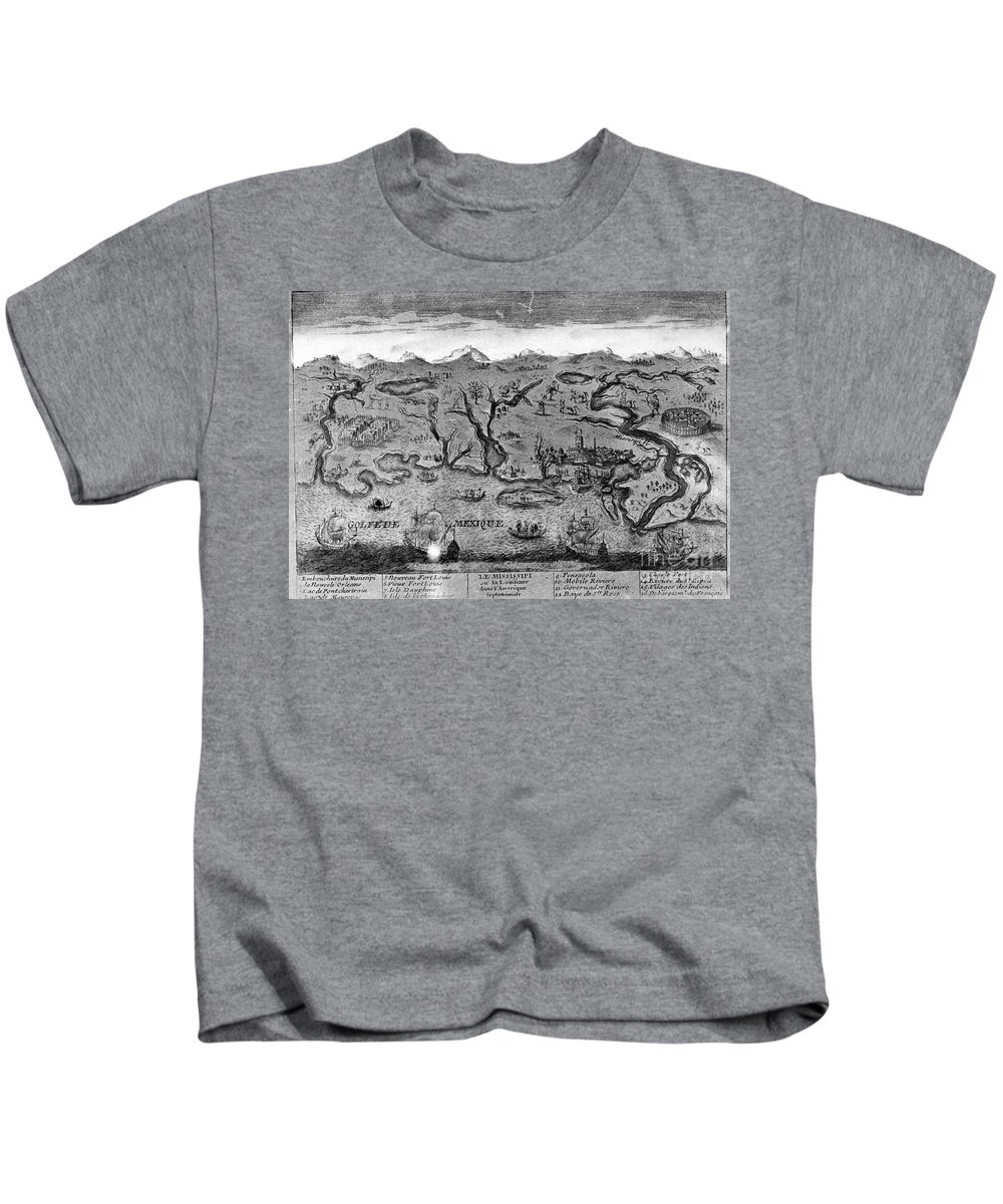1720 Kids T-Shirt featuring the photograph Gulf Coast, C1720 by Granger