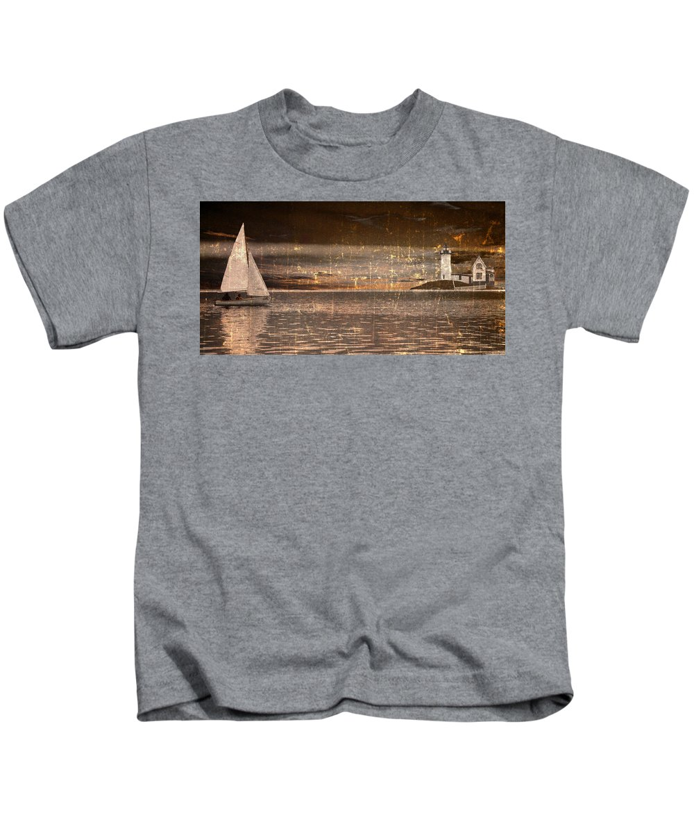 Boat Kids T-Shirt featuring the photograph Heading Home by Gray Artus
