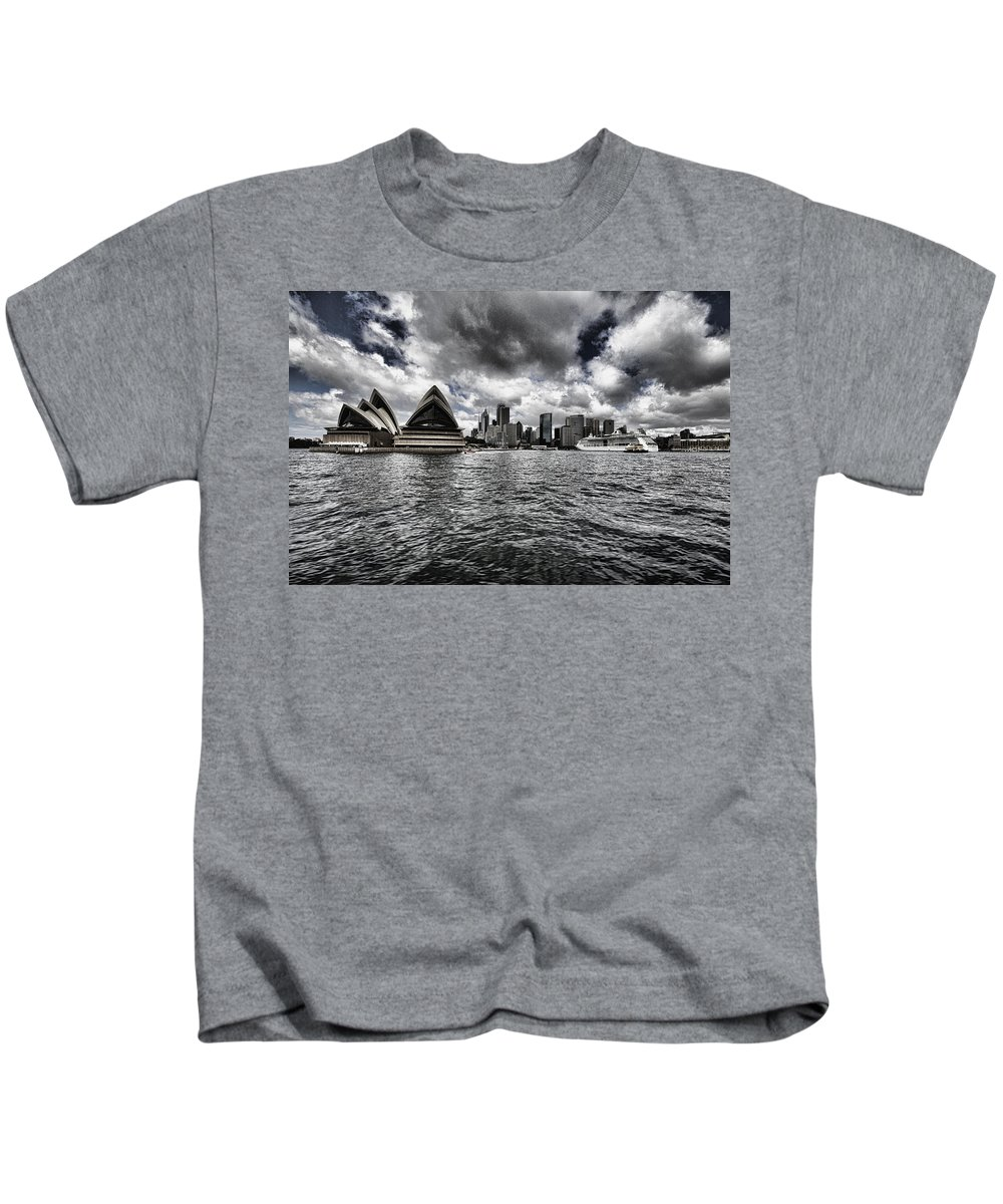 Sydney Kids T-Shirt featuring the photograph Iconic Landmark V2 by Douglas Barnard