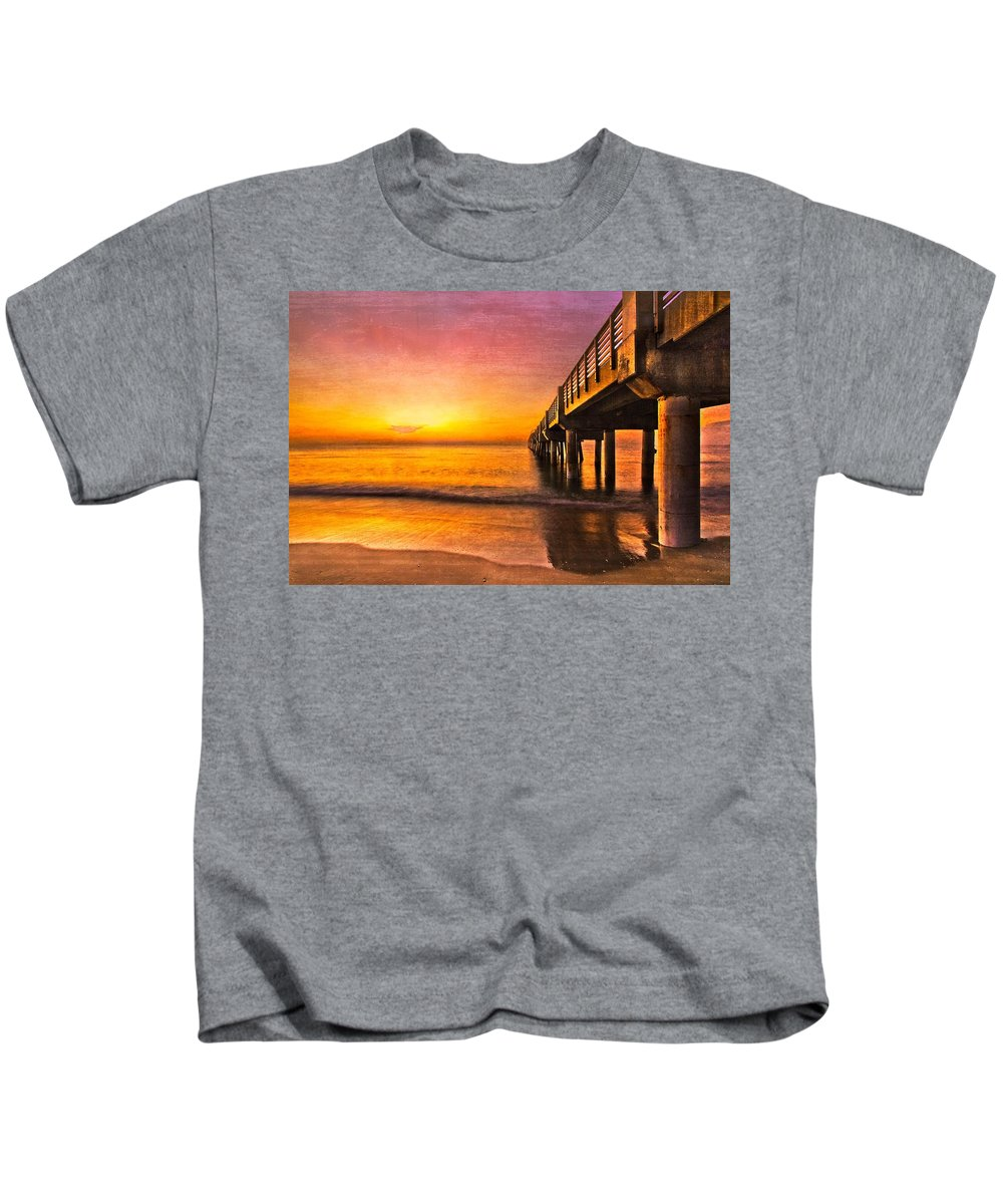 Clouds Kids T-Shirt featuring the photograph Into The Light by Debra and Dave Vanderlaan