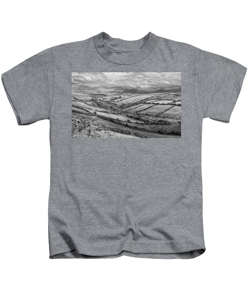 Bw Kids T-Shirt featuring the photograph Irish Fields by David Resnikoff