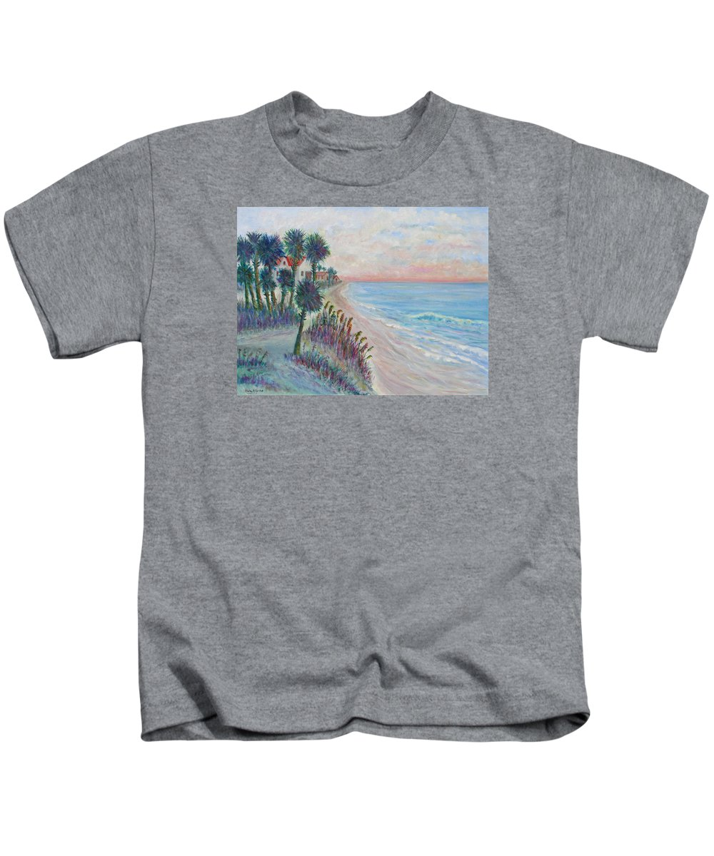 Seascape Kids T-Shirt featuring the painting Isle of Palms by Ben Kiger
