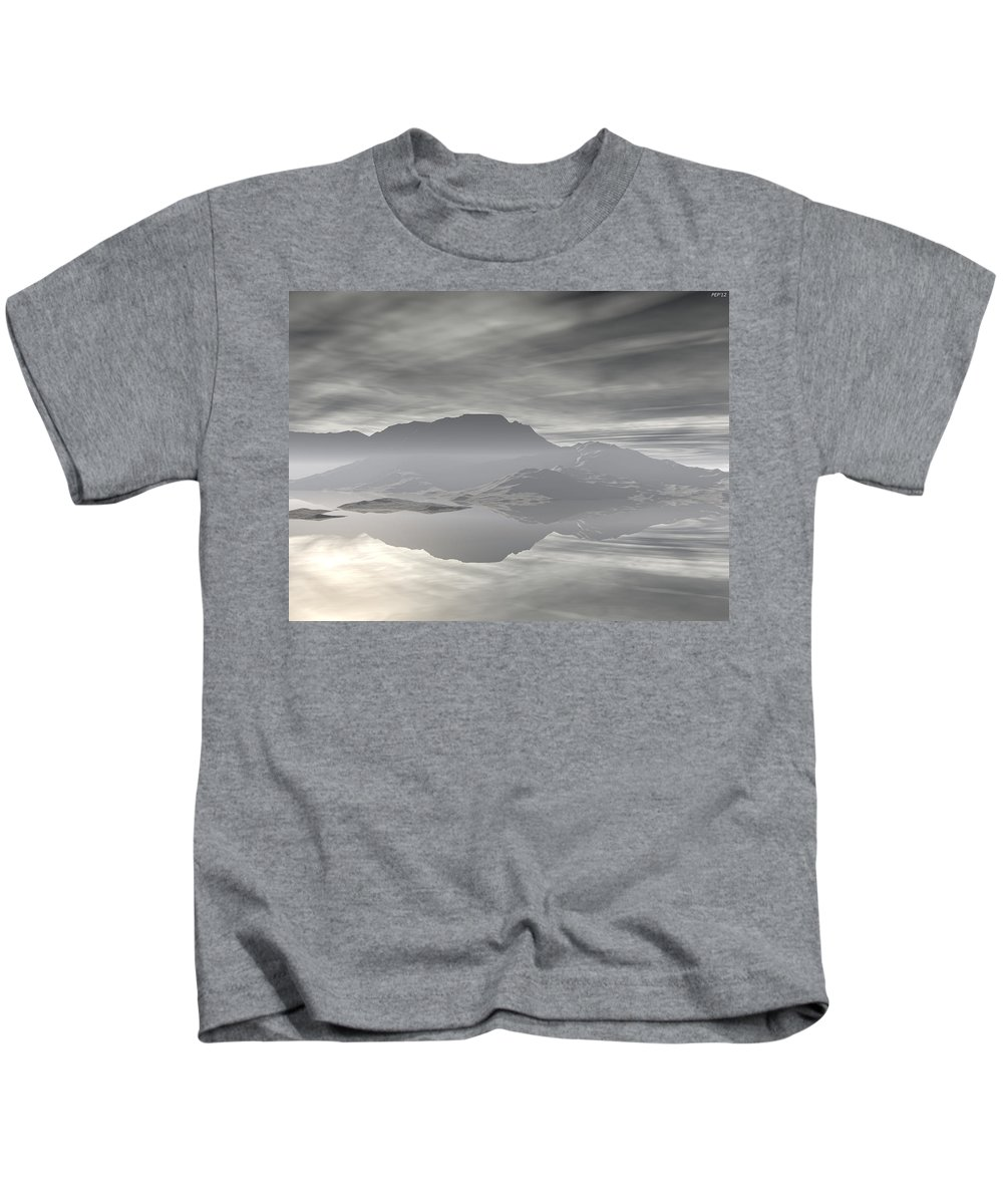 Digital Art Kids T-Shirt featuring the digital art Isle Of Serenity by Phil Perkins