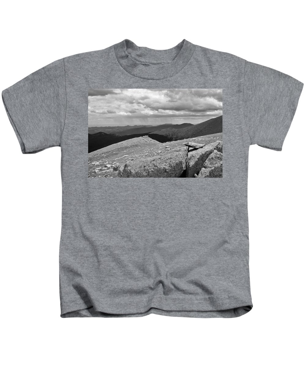 Kids T-Shirt featuring the photograph It's Raining In The Distance by David Pantuso
