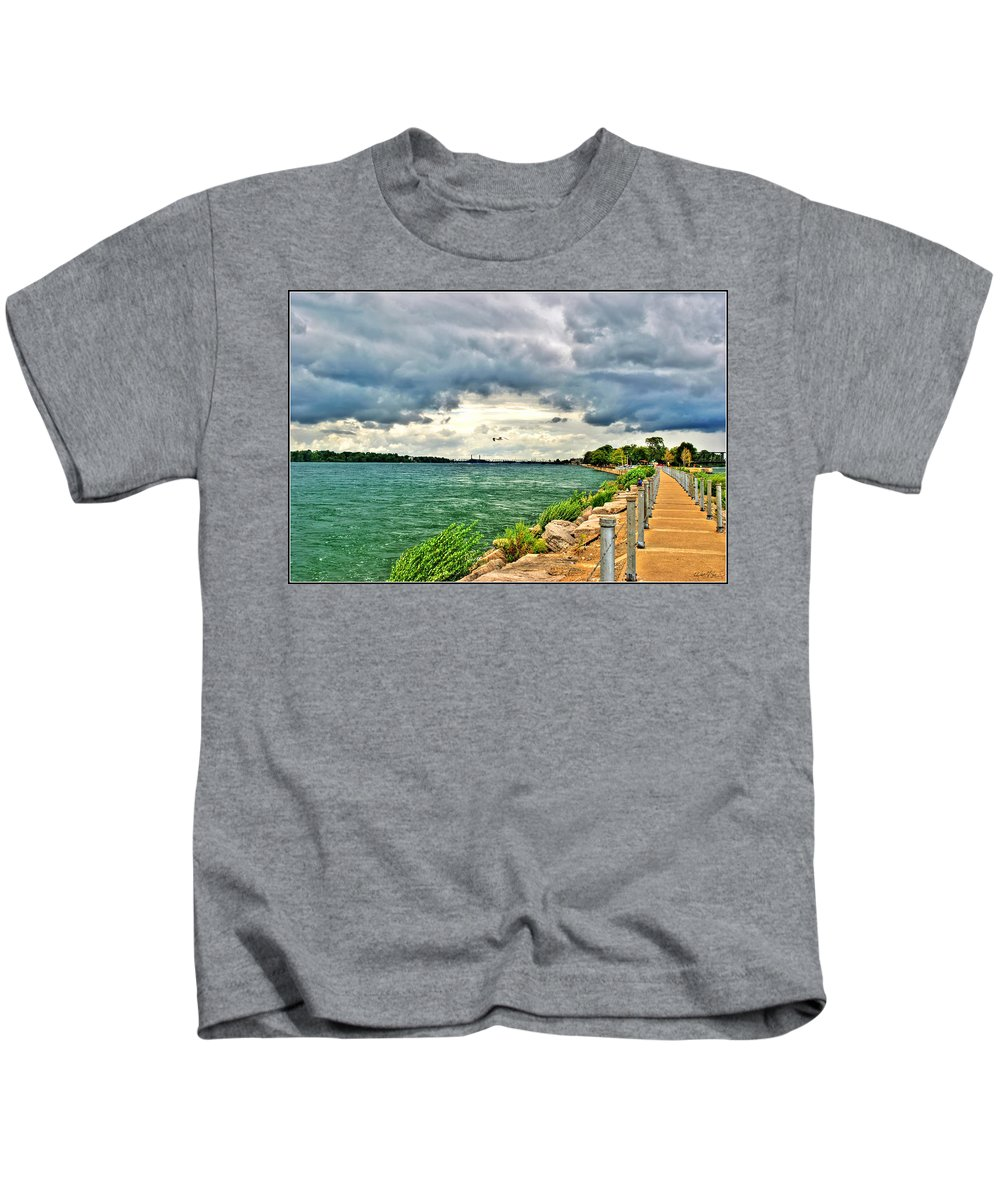 Kids T-Shirt featuring the photograph Journey Back From The Bridge by Michael Frank Jr