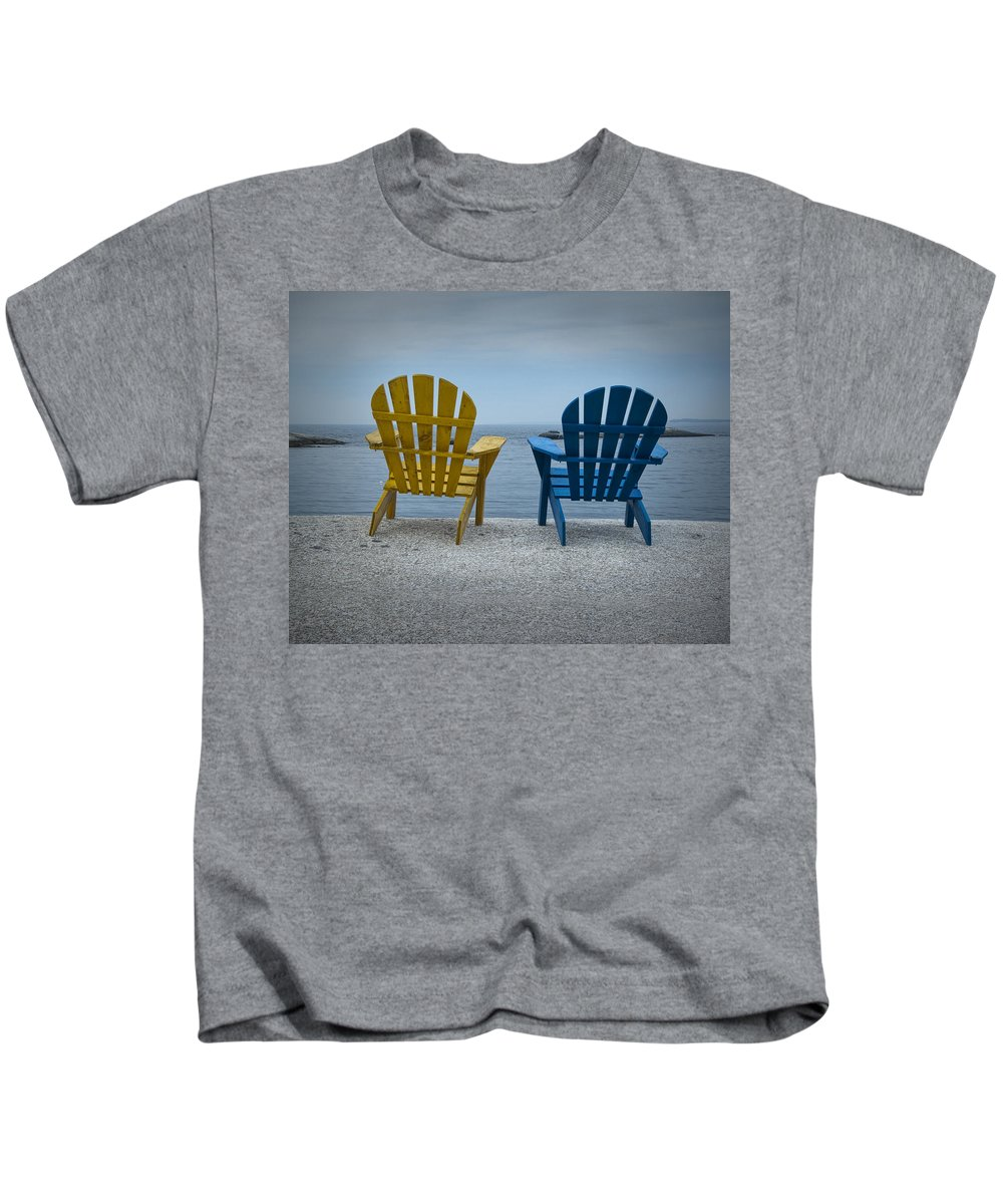 Art Kids T-Shirt featuring the photograph Just The Two Of Us by Randall Nyhof