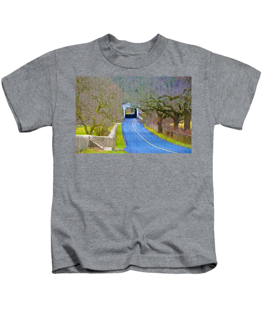 Kennedys Kids T-Shirt featuring the photograph Kennedy's Bridge Over French Creek by Bill Cannon