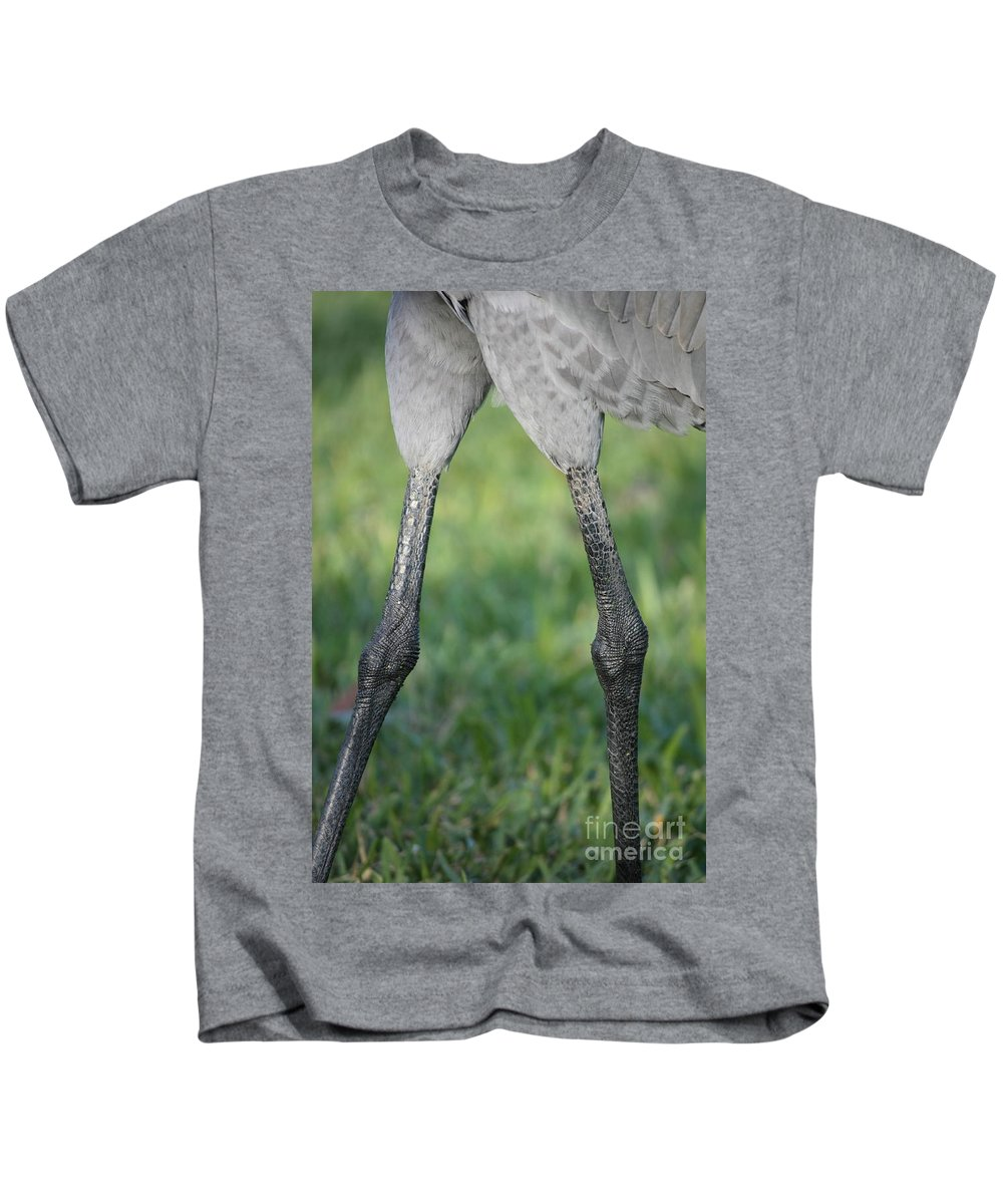 Sandhill Crane Kids T-Shirt featuring the photograph Knobby Knees by Carol Groenen