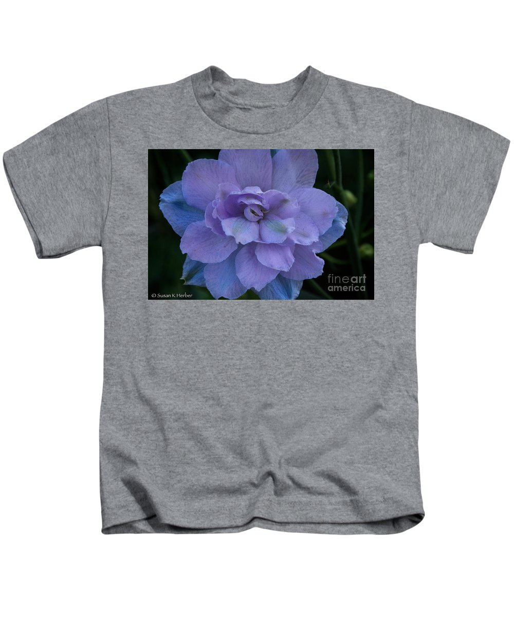 Outdoors Kids T-Shirt featuring the photograph Lavender Blue by Susan Herber