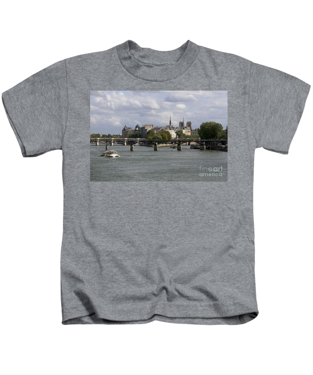 Paris Kids T-Shirt featuring the photograph Le Pont Des Arts. Paris. France by Bernard Jaubert