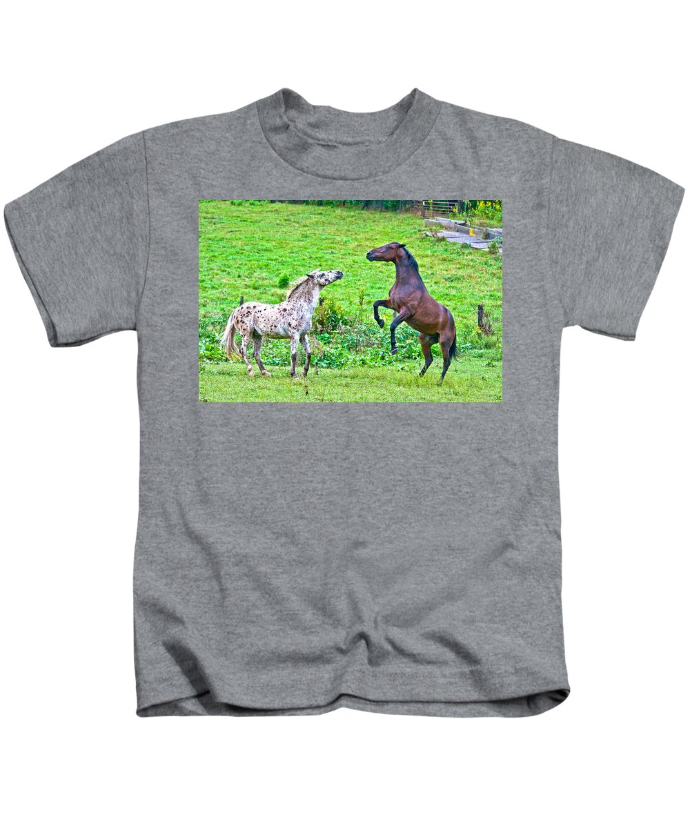 Leopard Kids T-Shirt featuring the photograph Leopard V Standardbred by Betsy Knapp