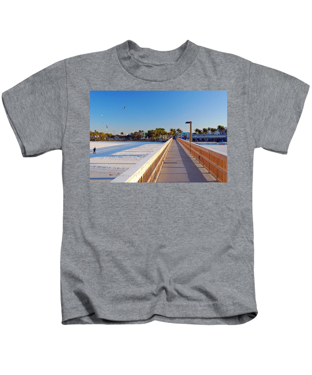 Sunny Kids T-Shirt featuring the photograph Long Walk Home by Gary Wonning