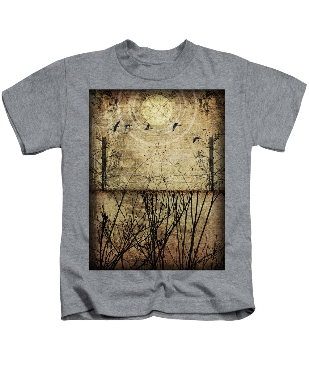Art Kids T-Shirt featuring the photograph Migration by Jay Hooker