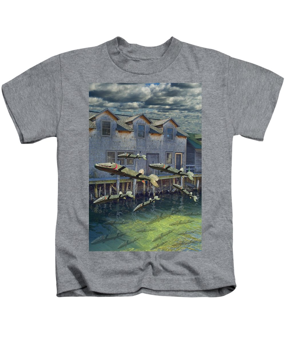 Art Kids T-Shirt featuring the photograph Migration by Randall Nyhof