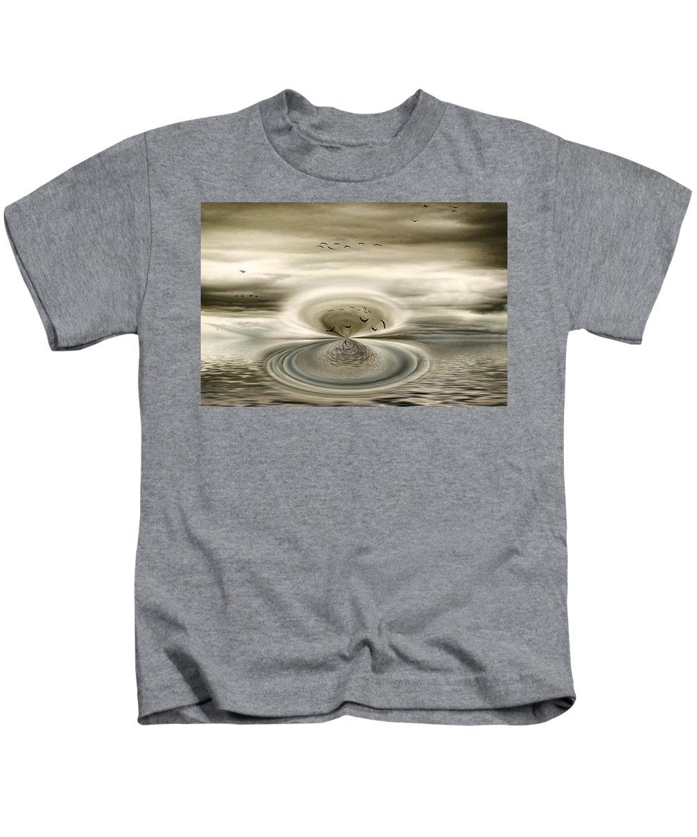 Mist Kids T-Shirt featuring the digital art Mist by Diane Dugas