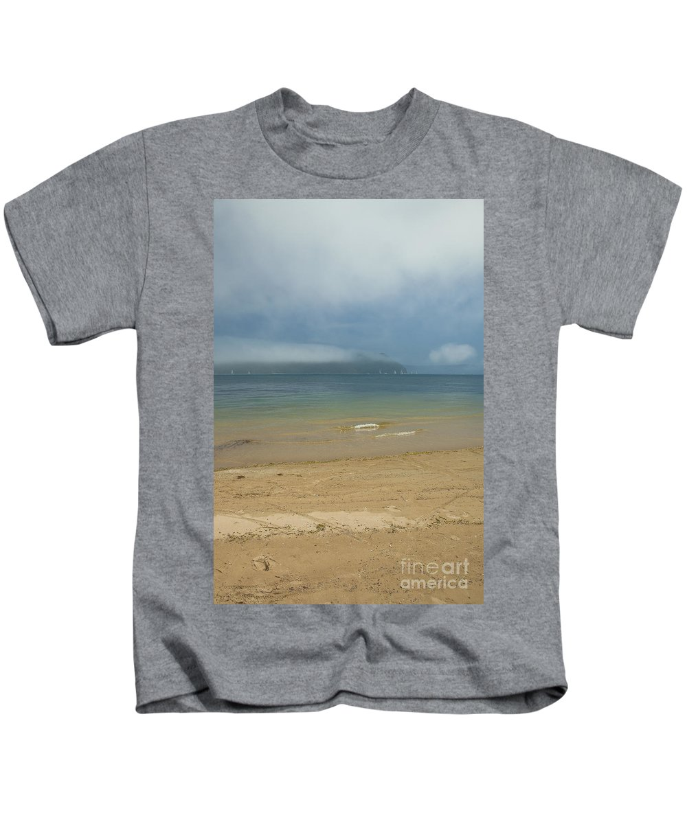 Misty Kids T-Shirt featuring the photograph Mist Over Pittwater by Sheila Smart Fine Art Photography