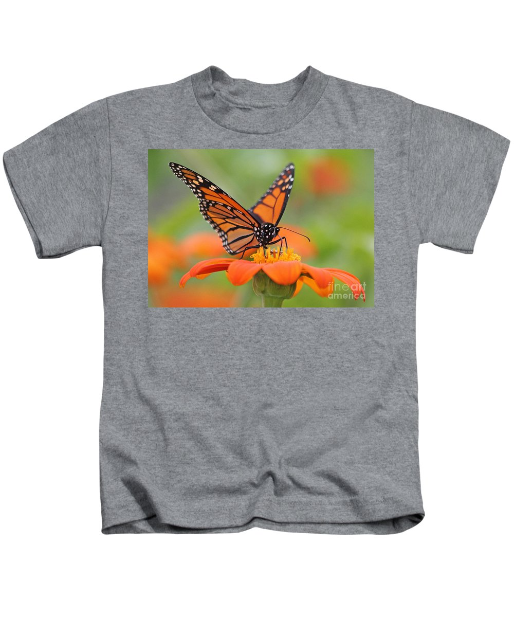 Monarch Kids T-Shirt featuring the photograph Monarch Butterfly Macro by Jack Schultz