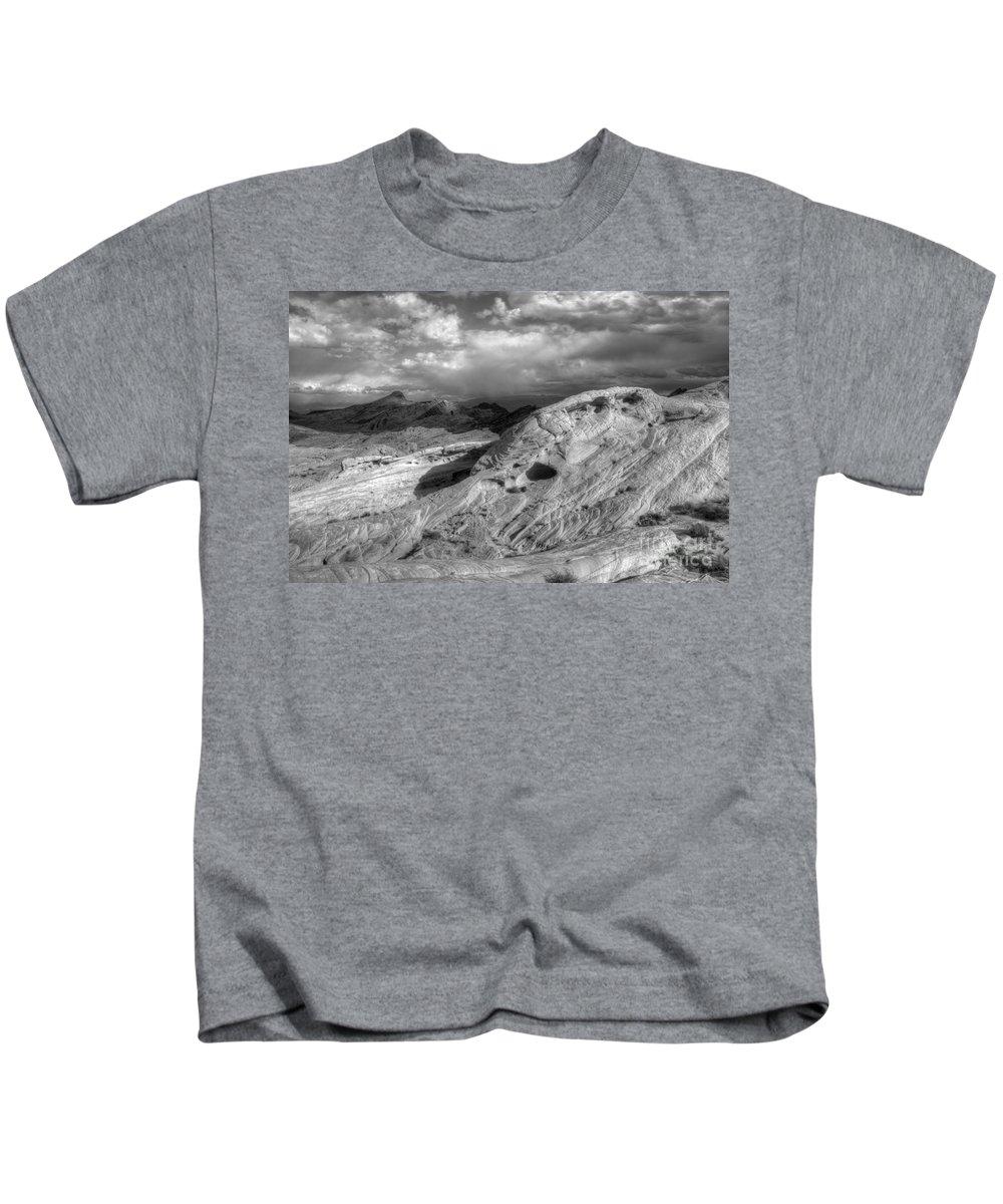 Monochrome Kids T-Shirt featuring the photograph Monochrome Landscape Project 2 by Bob Christopher