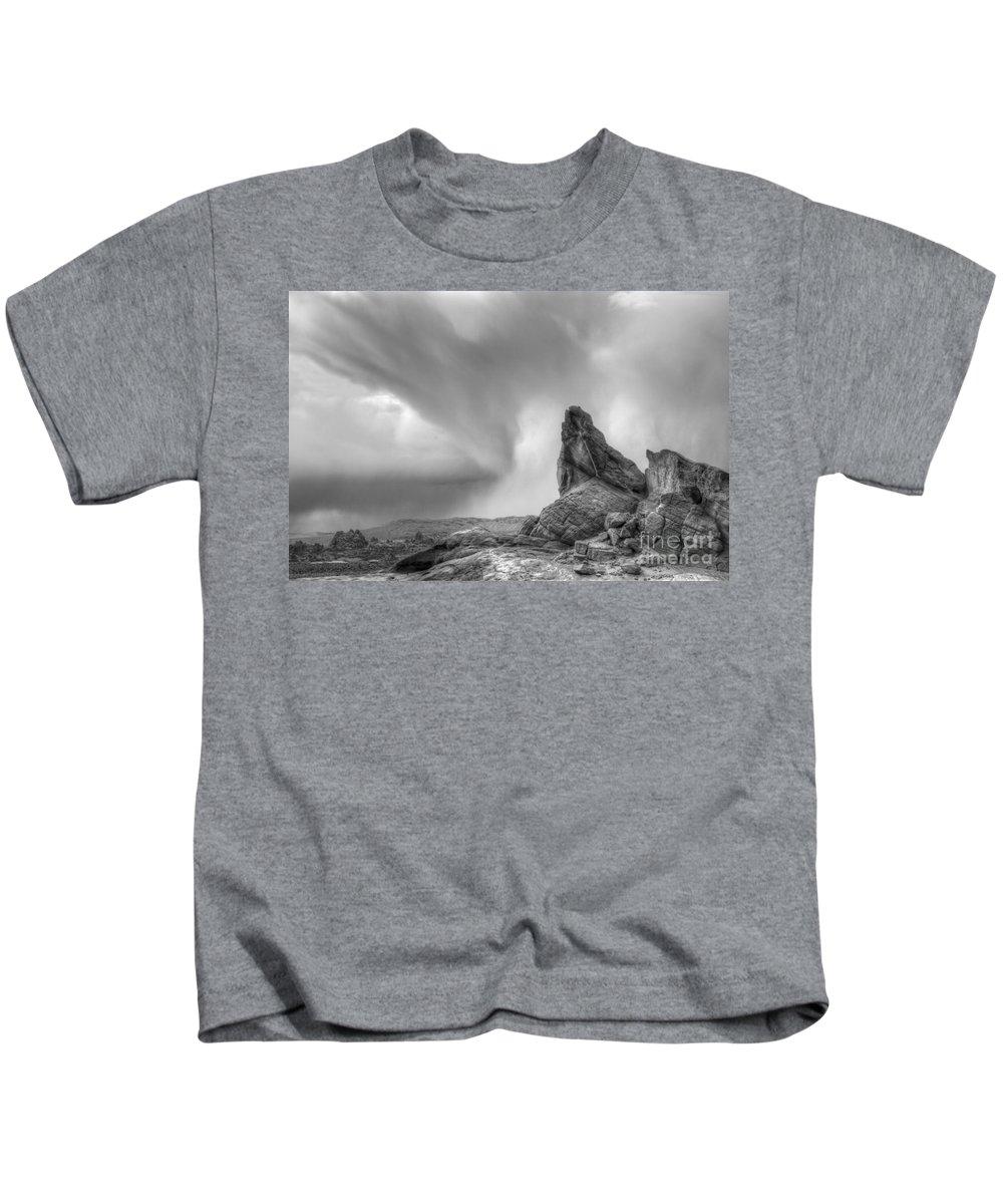 Monochrome Kids T-Shirt featuring the photograph Monochrome Landscape Project 5 by Bob Christopher