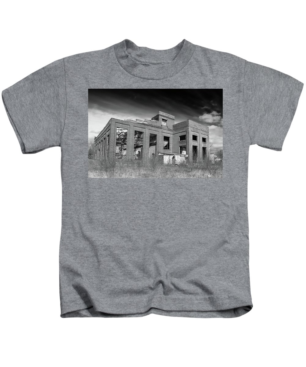Abandoned Building Kids T-Shirt featuring the photograph More Urban Decay 70797 by Guy Whiteley