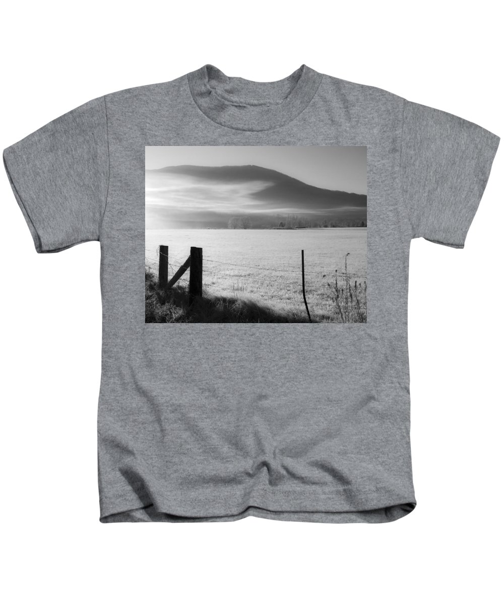 Fog Kids T-Shirt featuring the photograph Morning Fog by Michael Clubb