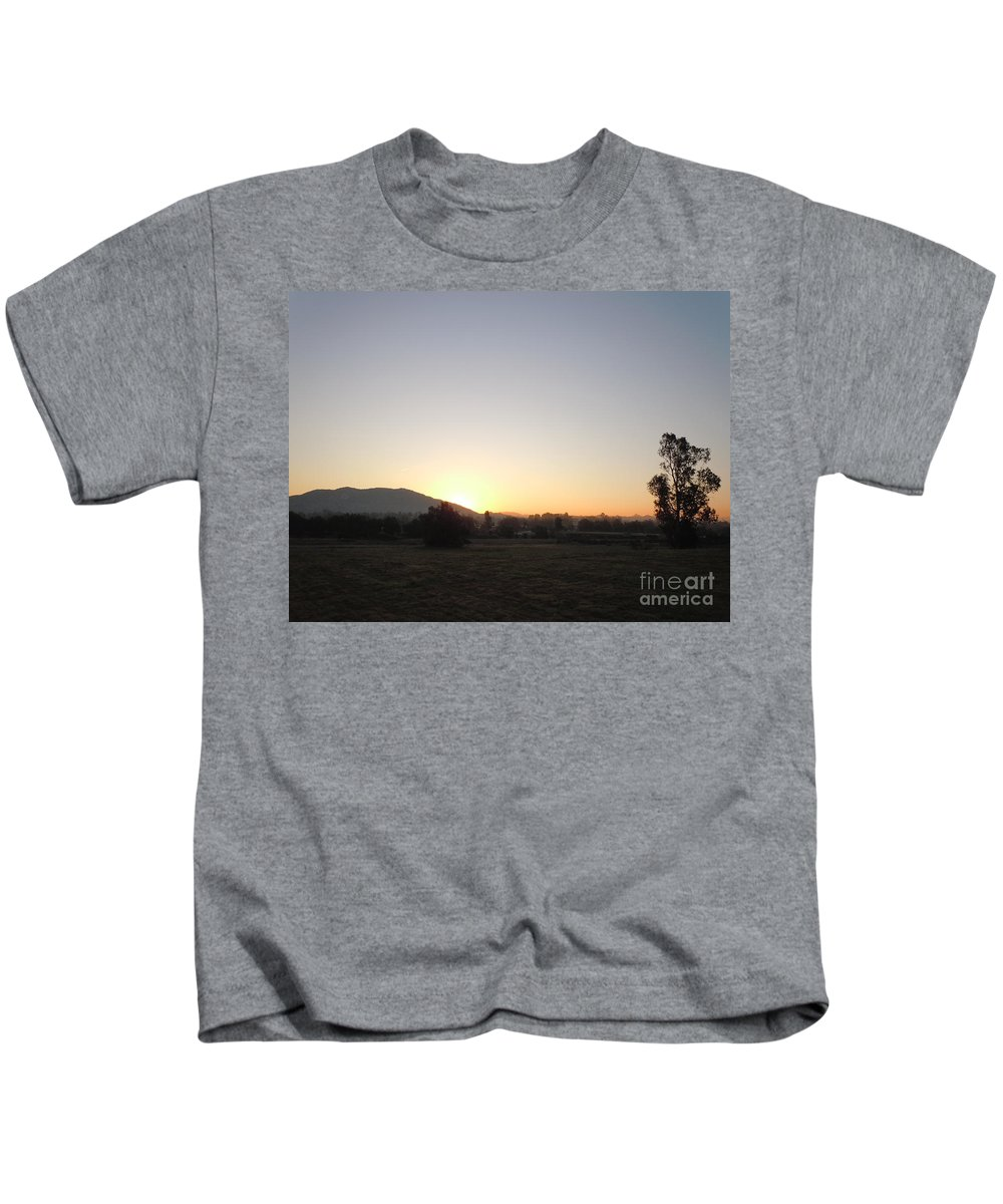 Morning Kids T-Shirt featuring the photograph Morning Star by Customikes Fun Photography and Film Aka K Mikael Wallin