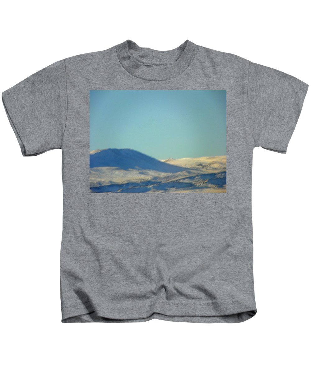 Abstract Kids T-Shirt featuring the photograph Mountain Light And Shadow by Lenore Senior